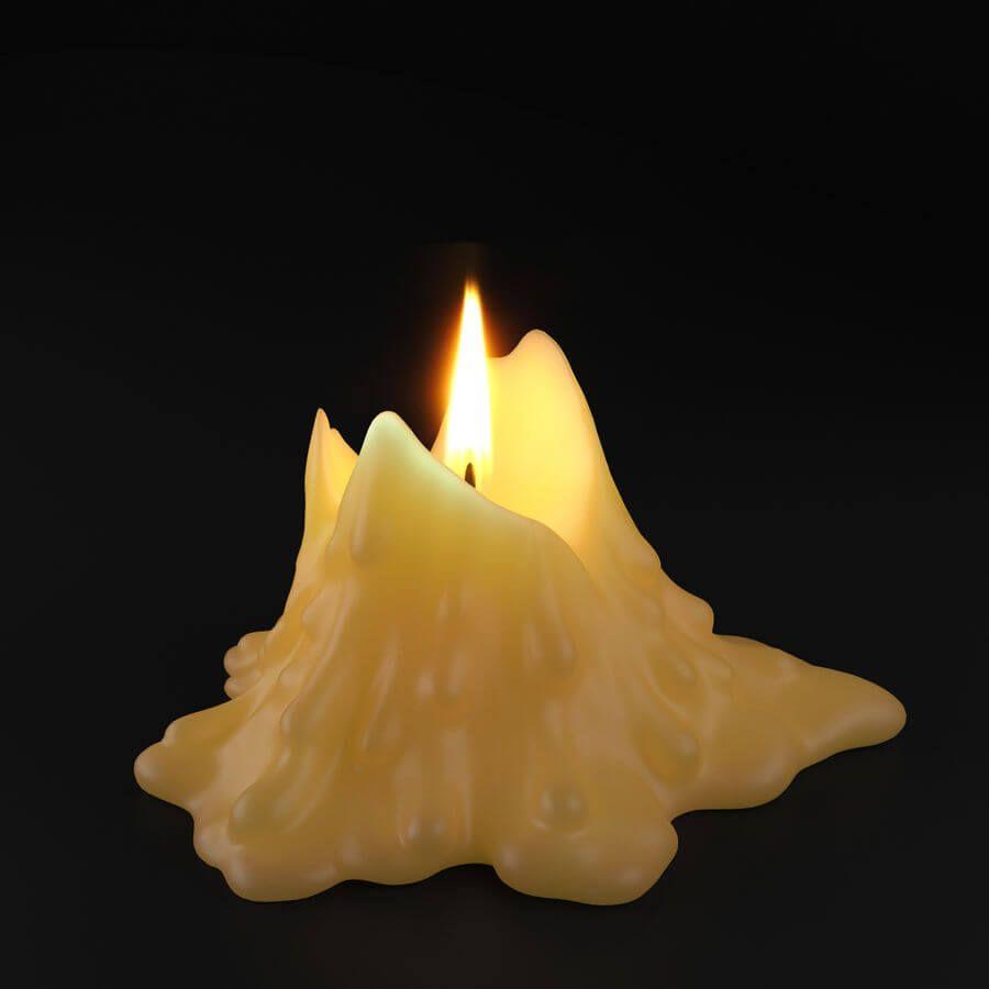 significado de los restos de las velas